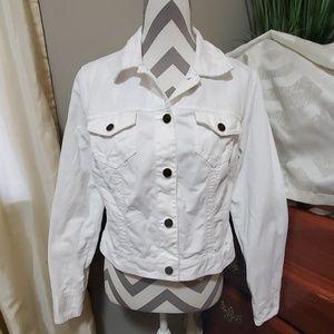 White denim jean jacket